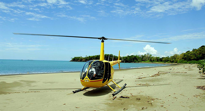 Helicopter yellow Panama